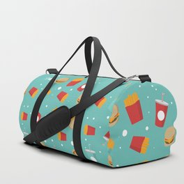 Burgers pattern Duffle Bag