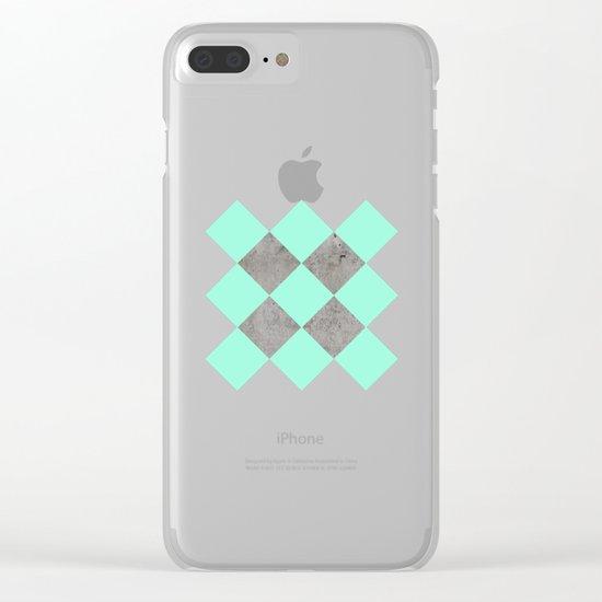 Sea on Concrete Clear iPhone Case