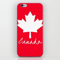 canada iPhone & iPod Skins featuring Canada by Jason Michael