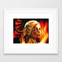 mother of dragons Framed Art Prints featuring The Mother of Dragons by Brigitta