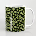 Cannabis Pattern Black Background by jeffcdesign