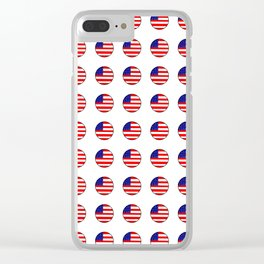 Flag of Usa in a polka dot. Clear iPhone Case