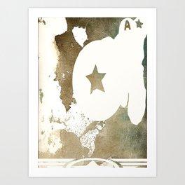Superheroes minimalist - Capamerica Art Print