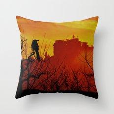 Raven's sunrise Throw Pillow