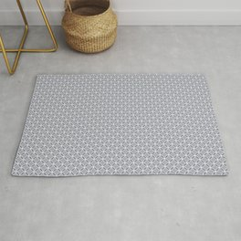 A simple small gray, white pattern. Rug