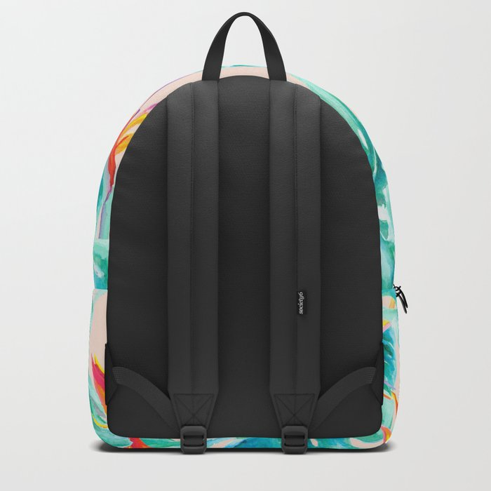 Tropical Paradise Pale Peach Backpack