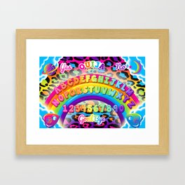 1997 Neon Rainbow Ouija Board Framed Art Print
