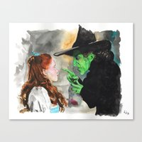 oz Canvas Prints featuring Oz by jgart