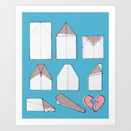 Paper Planes Make Broken Hearts Art Print