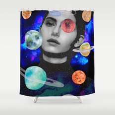 spaced out. Shower Curtain