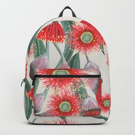 Gum Tree flowers and leaves Backpack