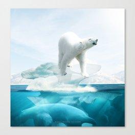 Polar Bear Island Canvas Print