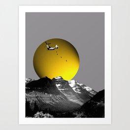Mountain Assault Art Print