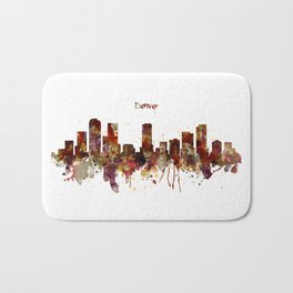 Denver Skyline Silhouette Bath Mat