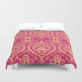 Simple Ogee Pink Duvet Cover