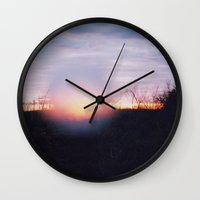 blur Wall Clocks featuring blur by erinreidphoto