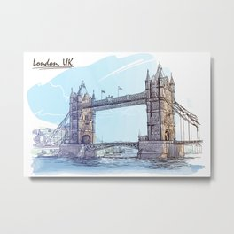 Color Sketch from London 08 Metal Print