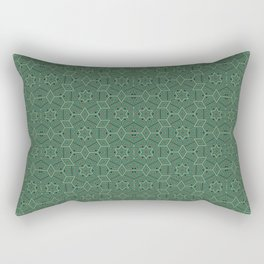 Green stars Rectangular Pillow