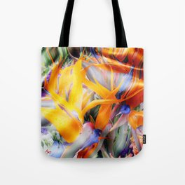 Fantasy Bird of Paradise by Artist McKenzie (www.McKenzieartstudio.com) Tote Bag