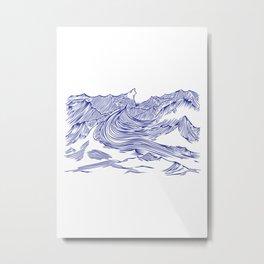 Seawaves Metal Print