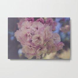 Blushing Floral Metal Print