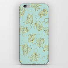 Gold Squid (Mint) iPhone & iPod Skin