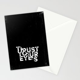 Trust your Eyes Stationery Cards