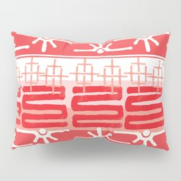 AZTEC pattern in coral Pillow Sham