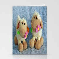 silence of the lambs Stationery Cards featuring Little Lambs by Frankie Cat