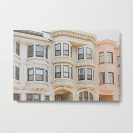 San Francisco Pastels Metal Print