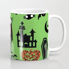 Cute Dracula and friends green #halloween Coffee Mug