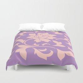 Oriental Flower - Strawberry Lilac Duvet Cover