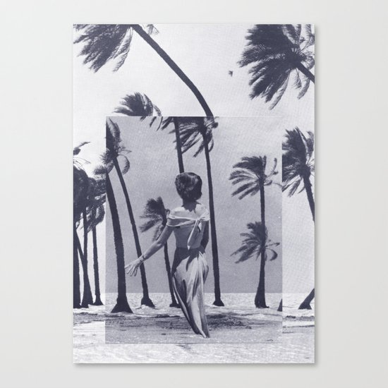 Tropical Storm in Purple Canvas Print