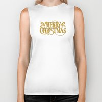 merry christmas Biker Tanks featuring Merry Christmas by Better HOME