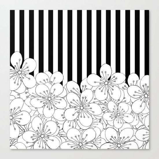 Cherry Blossom Stripes - In Memory of Mackenzie Canvas Print