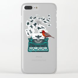 ALPHABET OF LIFE Shirt Clear iPhone Case