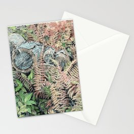 Colored ferns. Stationery Cards