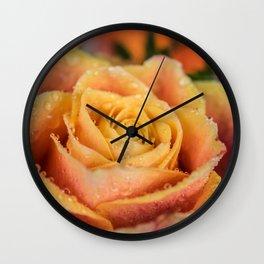 Dew Laden Rose Wall Clock