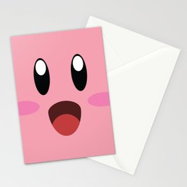 Kirby face illustration Stationery Cards