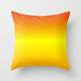 Horizontal Red, Yellow and Orange Gradient Throw Pillow