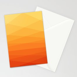 Orange and yellow ombre polygonal geometric pattern Stationery Cards