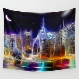 Starry Night New York City Wall Tapestry