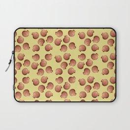 Yellow small Clams Illustration pattern Laptop Sleeve