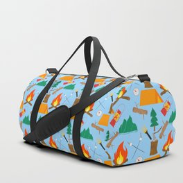 Let's Explore The Great Outdoors - Light Blue Duffle Bag