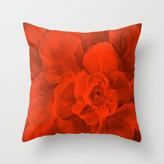 RED RED RED ROSE Throw Pillow