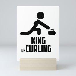 Curling sport Mini Art Print