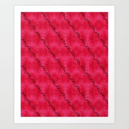 Red Ribbon Art Print