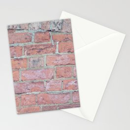 Red Brick Texture Stationery Cards