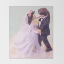 Bride and Groom - bridal shower gift or wedding gift Throw Blanket