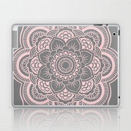 Mandala Flower Gray & Ballet Pink Laptop & iPad Skin